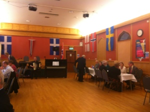 The Hall ready for our Norwegian Dinner Dance