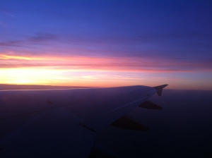 Sunset views from the plane