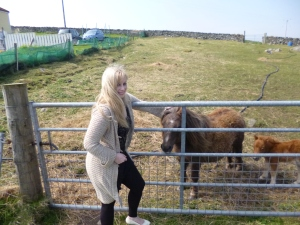 Me with some Shetland ponies