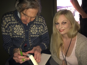 Barry Farber signing my book