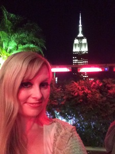 On the rooftop bar, New York